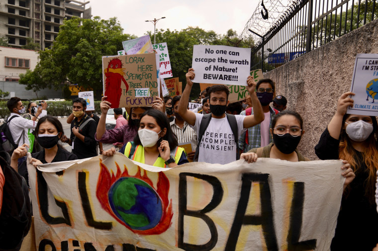 Image: Activists protest in New Delhi, India, on Friday.
