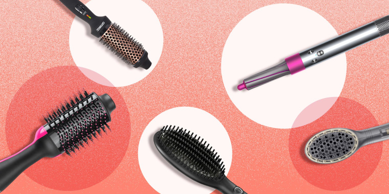 Illustration of different hot hair tools