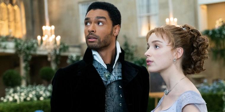 "Rege-Jean Page and Phoebe Dynevor star in Netflix's ""Bridgerton."""