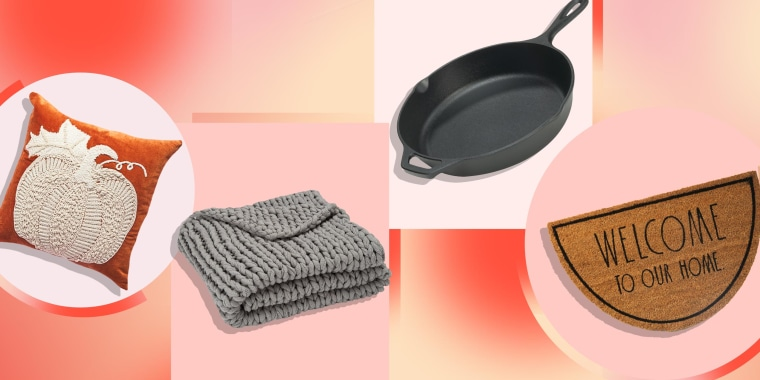 Illustration of four different products available for purchase online at Homegoods