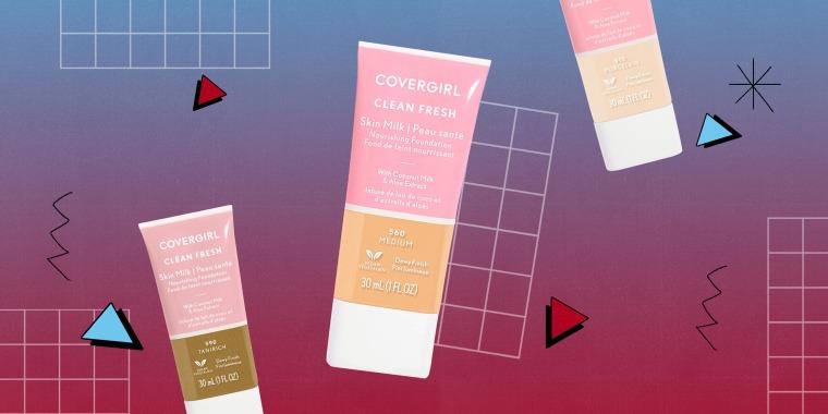 Illustration of the Covergirl Clean Fresh Skin Milk Foundation popular on TikTok