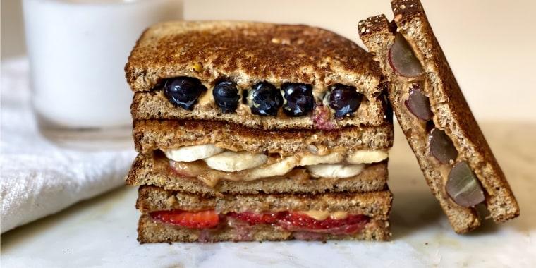 Close up of a sandwich