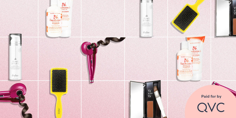 Illustration of hair tools and products you can buy on QVC