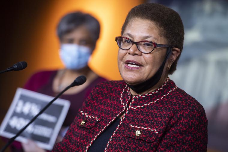 Image: Karen Bass, Congressional Black Caucus Presser
