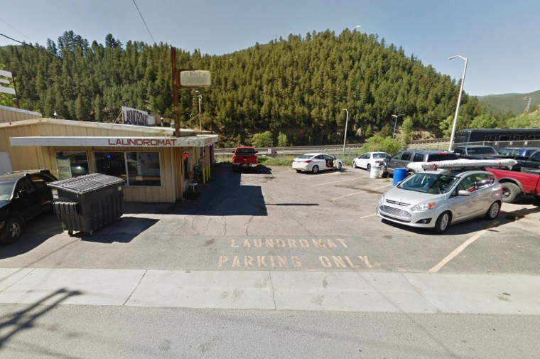 Image: Laundromat parking lot in Idaho Springs, Colo.
