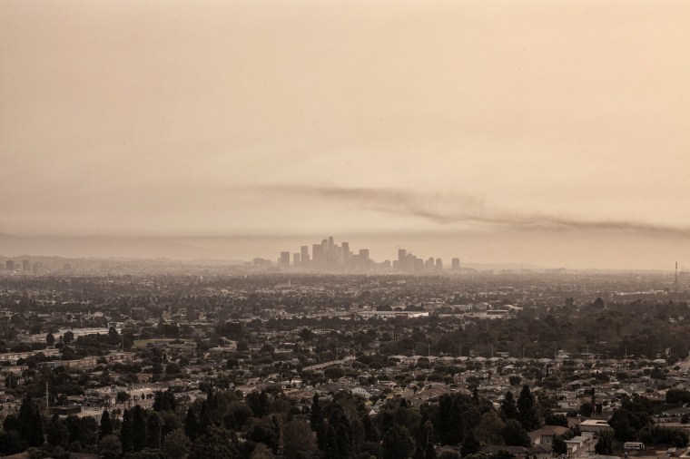 Image: In early September 2020, Los Angeles was blanketed each day with smoke and ash from nearby wildfires.
