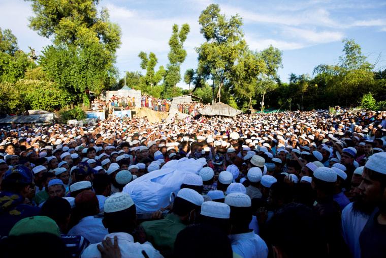 Image: Funeral of Mohib Ullah, a Rohingya Muslim leader of the Arakan Rohingya Society for Peace and Human Rights