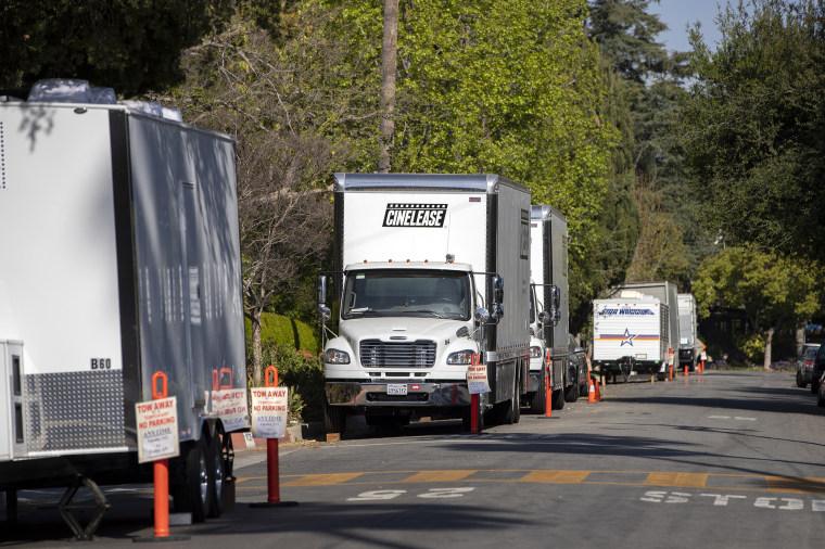 Image: Production sets in Altadena, CA.