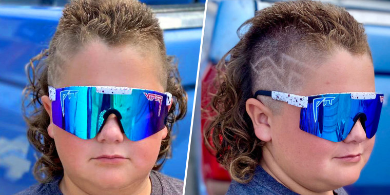 The haircut that screams business in the front, party in the back is not just for adults, as evident with the U.S.A. Mullet Championships kids division.