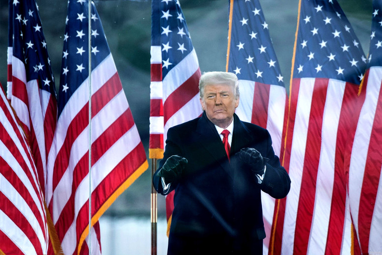 Image: Then-President Donald Trump greets supporters on The Ellipse near the White House on Jan. 6, 2021.