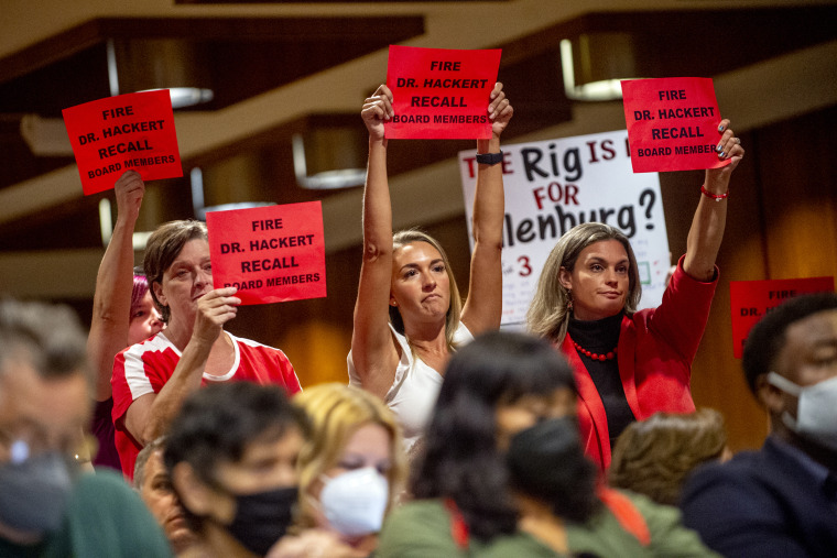 Image: School Board Meeting Protest