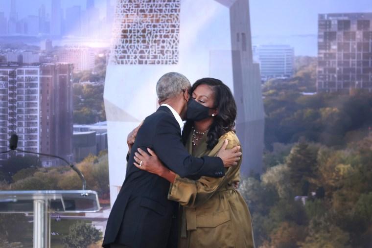 Image: Obamas Break Ground On Long-Delayed Presidential Center In Chicago