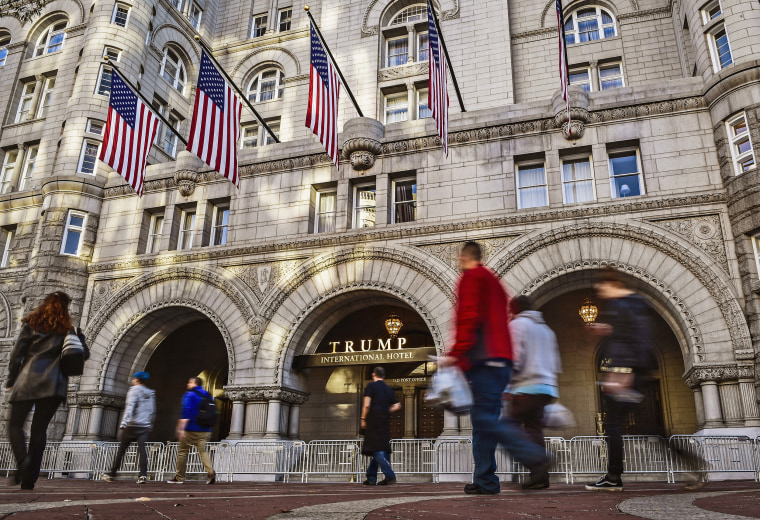 A view of the Trump hotel for our story on conflict of interest in the new Trump administration, in Washington, DC.