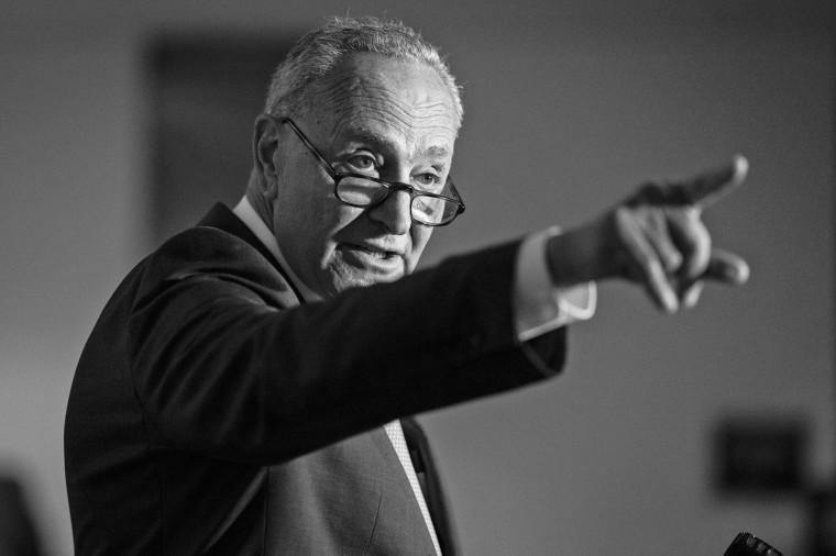 Senate Majority Leader Chuck Schumer speaks on Capitol Hill on June 8, 2021.