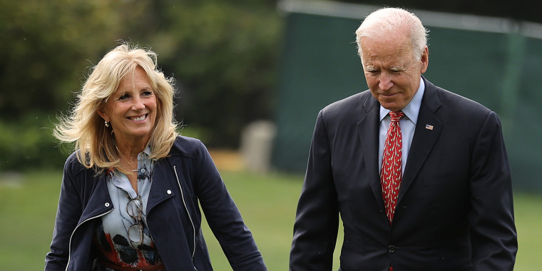 President And Dr. Biden Return To The White House