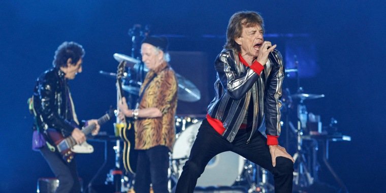 """Mick Jagger performs during the Rolling Stones """"No Filter"""" 2021 North American tour on Sept. 26 in St. Louis"""