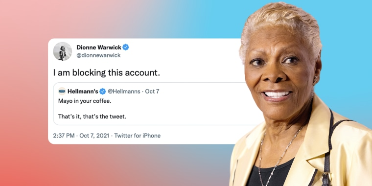 Social media users, including Dionne Warwick, had some pretty strong opinions when Hellmann's recommended adding mayo to coffee.
