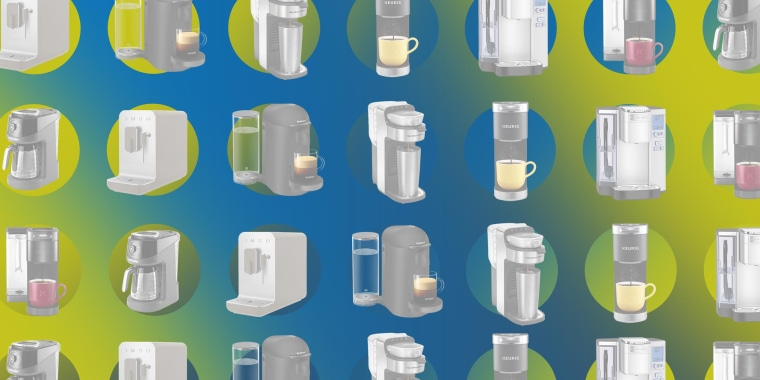 Illustration of 7 top-rated single-serve coffee makers