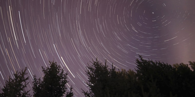 Landscape of the Quadrantid meteor shower in the Great Khingan Mountains in China's Heilongjiang province on Jan. 4, 2019.