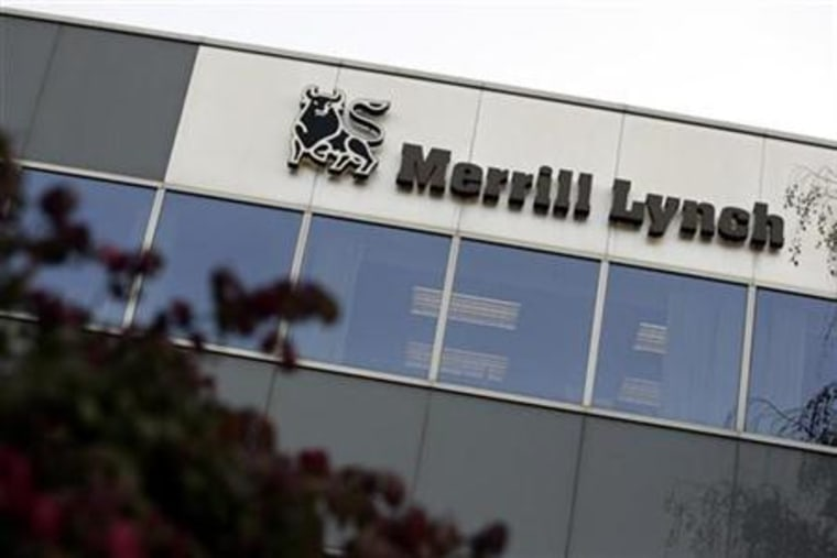A Merrill Lynch office building is seen in Great Neck, N.Y., earlier this year. Merrill Lynch & Co Inc. said on Monday it would sell most of its middle-market lending business to General Electric Co.'s commercial finance arm in a deal to free up capital.