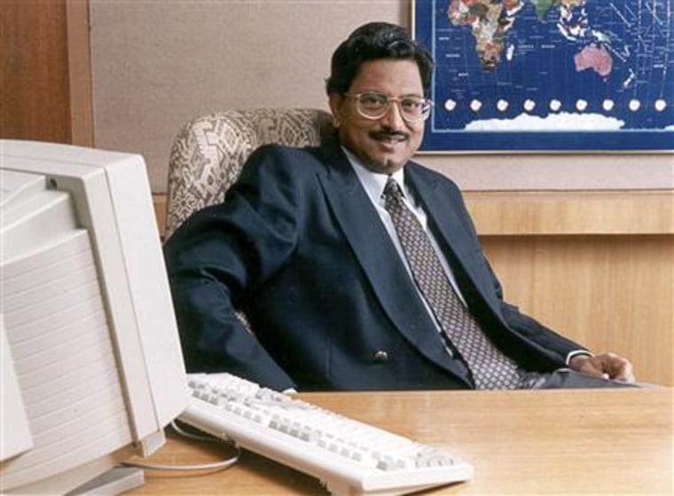 Handout of Satyam Computer Services chairman Ramalinga Raju posing in his office in Hyderabad