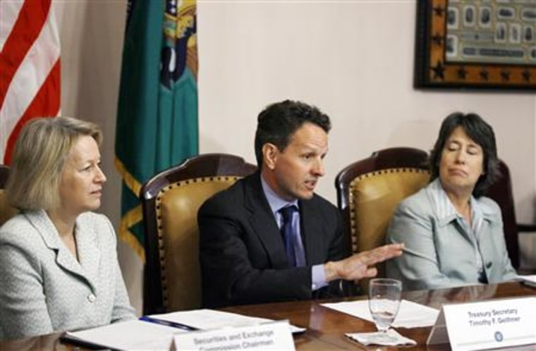 Treasury Secretary Timothy Geithner convenes the President's Working Group on Financial Markets in Washington