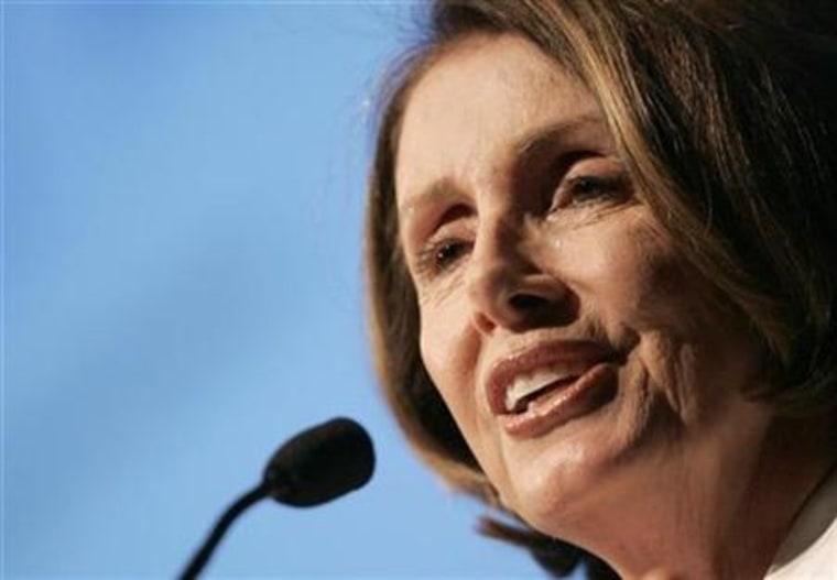 U.S. House Speaker Nancy Pelosi speaks about healthcare reform in San Francisco