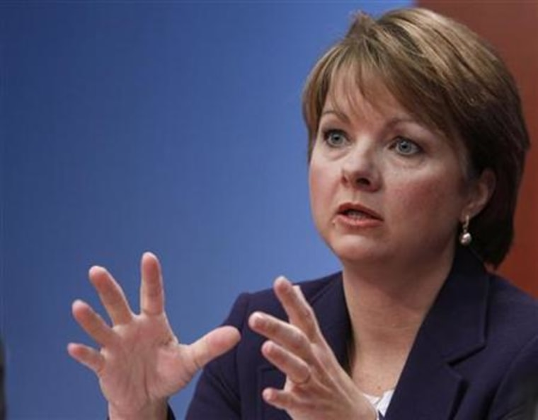 Angela Braly, president and chief executive officer of WellPoint Inc., speaks at the Reuters Health Summit in New York