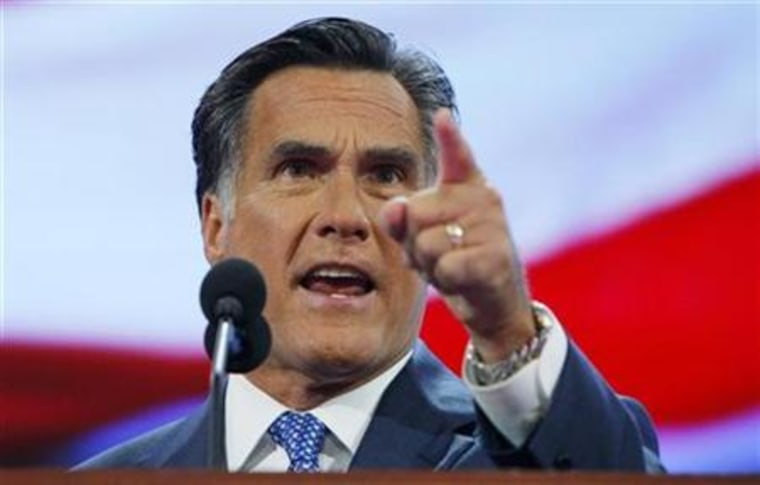 Former Republican presidential candidate Romney addresses the third session of the 2008 Republican National Convention in St. Paul, Minnesota