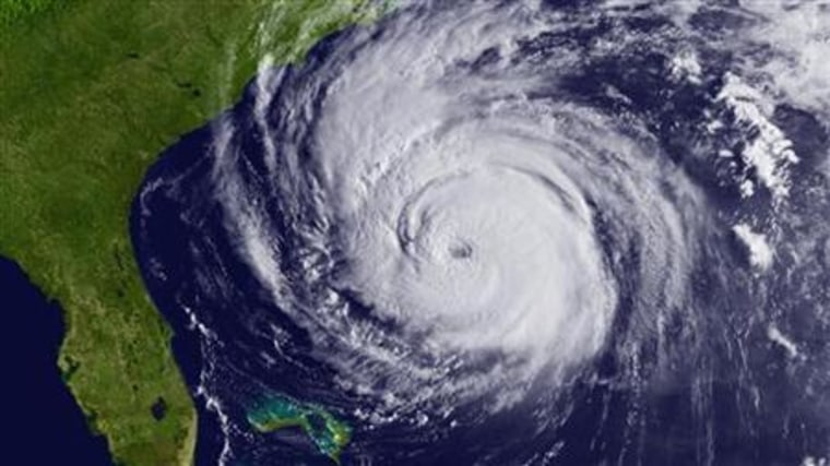 Handout satellite image shows Hurricane Earl off the SouthEastern coast of the United States