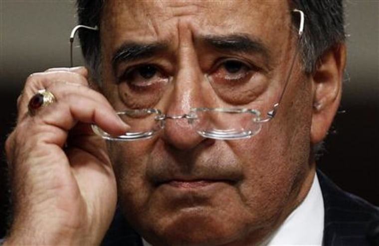 CIA Director Leon Panetta listens to questions as he testifies at his Senate confirmation hearing to become U.S. Secretary of Defense on Capitol Hill