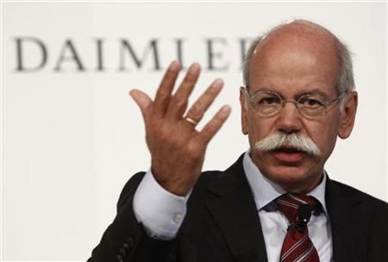 Daimler CEO Zetsche attends a news conference during the IAA Auto Show in Frankfurt