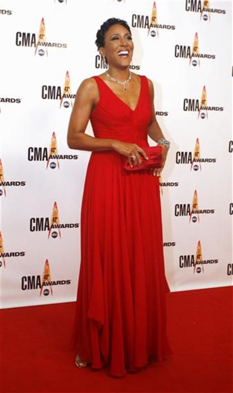 ABC newscaster Robin Roberts arrives at the 43rd annual Country Music Association Awards in Nashville