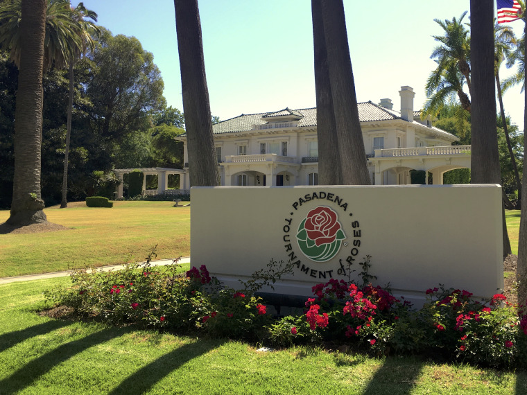 The Tournament House, headquarters of the Tournament of Roses, on Wednesday in Pasadena, Calif. The Tournament of Roses announced that the 2021 New Year's Day Rose Parade has been canceled due to concerns about the coronavirus pandemic.