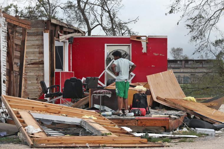 Image: Hurricane Laura Makes Landfall On US Gulf Coast