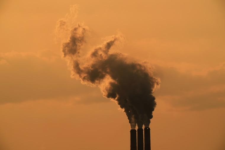 Smoke billows from the Jeffrey Energy Center coal-fired power plant on Sept. 12, 2020, near Emmet, Kan.