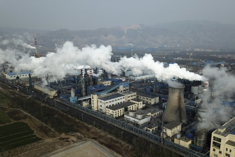 Image: Coal processing plant in Hejin in central China's Shanxi Province
