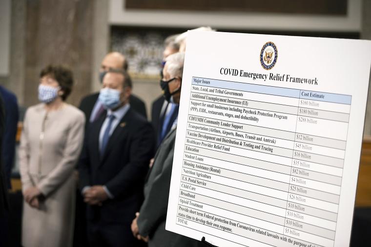 Image: Bipartisan Members Of Congress Announce Coronavirus Relief Bill