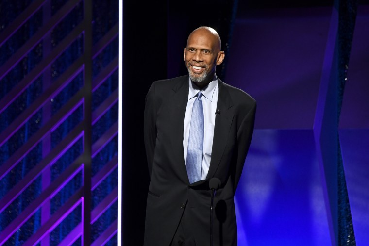 Kareem Abdul-Jabbar speaks onstage at the 18th Annual AARP The Magazine's Movies For Grownups Awards on Feb. 04, 2019 in Beverly Hills, Calif.