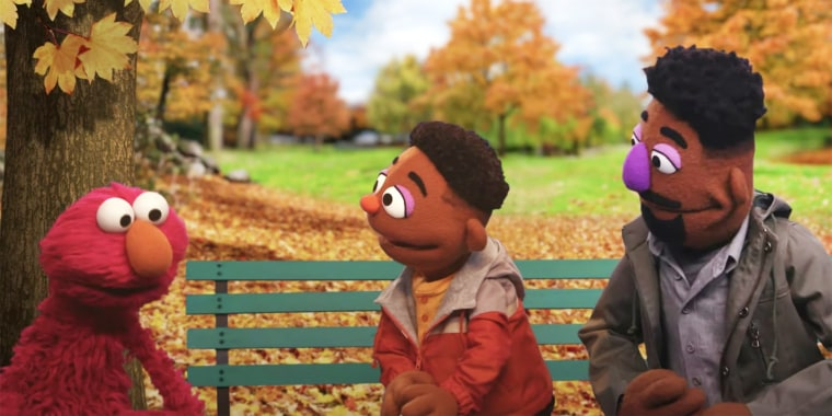 Father and son Wes and Elijah are introduced on Sesame Street.