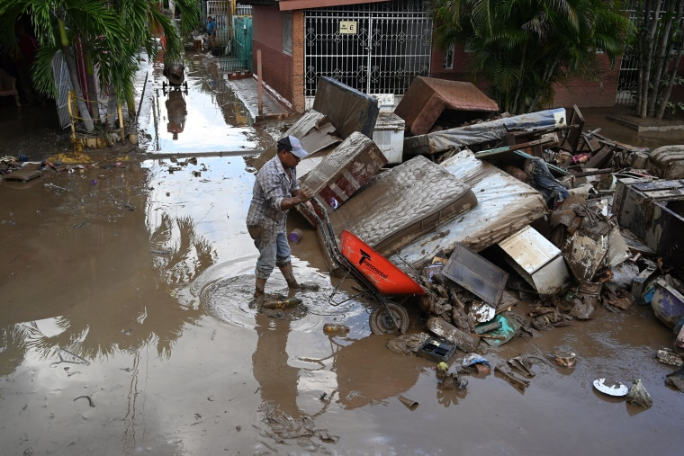 Image: Damage caused by the passage of Hurricane Eta in the municipality of Villanueva, Honduras, on Nov. 7, 2020.