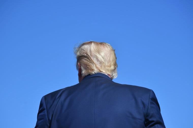 President Donald Trump speaks during a rally in Prescott, Ariz., on Oct. 19, 2020.