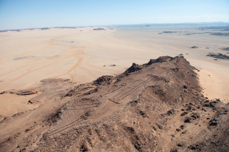 The landscape is dotted with ancient mustatils, which are named after the Arabic word for a rectangle. More than 1000 have been documented and more are still being found.