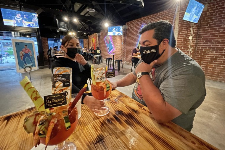 La Chuperia restaurant in Los Angeles prepares for Cinco de Mayo celebrations amid the realities of Covid restrictions.