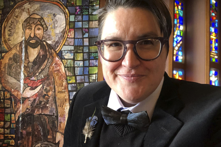 The Rev. Megan Rohrer at Grace Evangelical Lutheran Church in San Francisco in April.