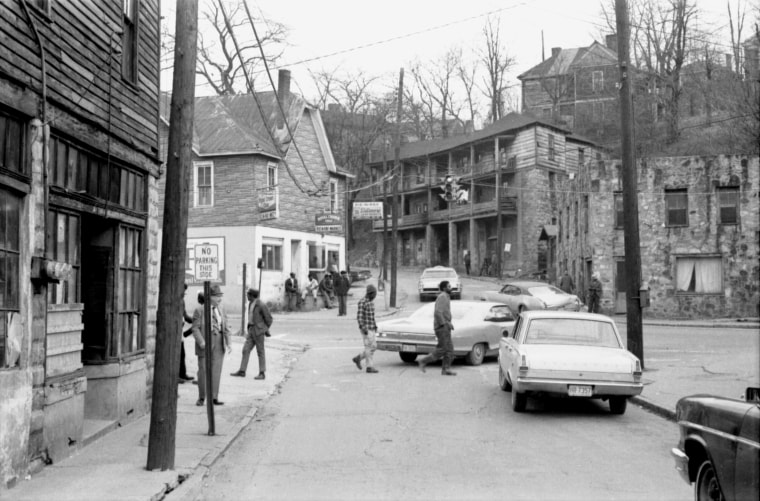 The East End neighborhood of Asheville, N.C., before buildings were demolished in the 1970s.