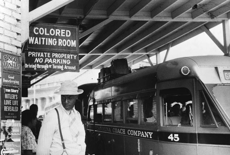 A bus station in Durham, N.C., May 1940.