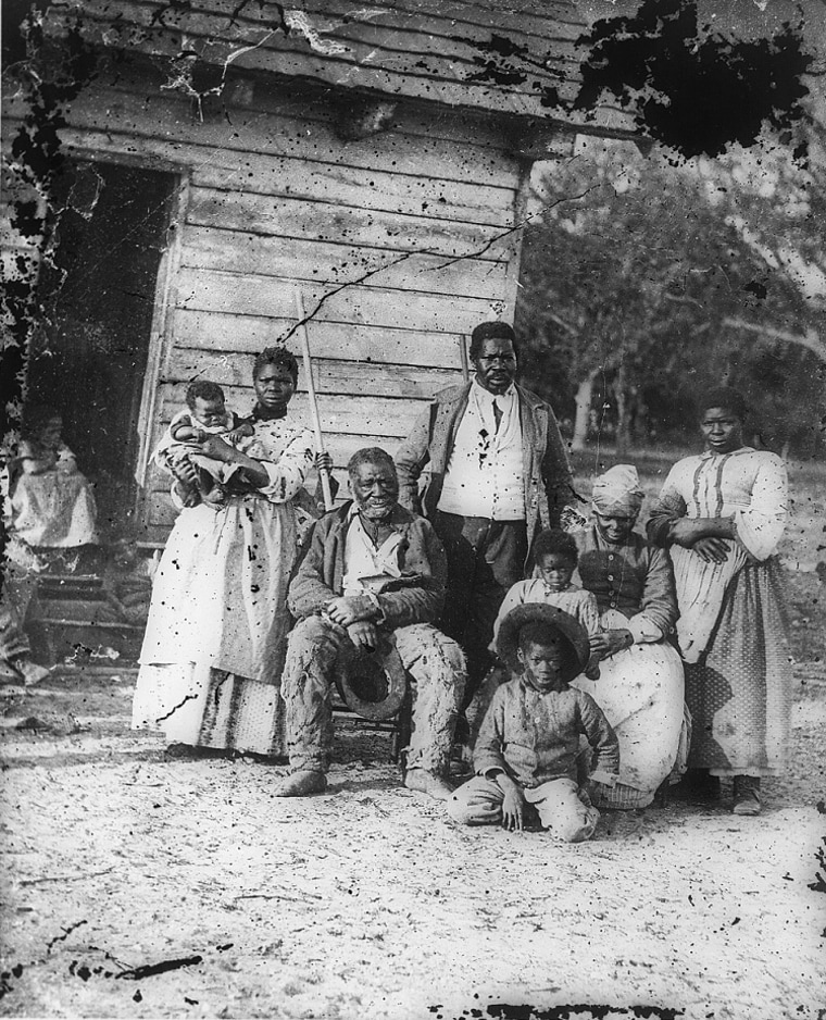 Five generations on Smith's Plantation, Beaufort, S.C., 1862.