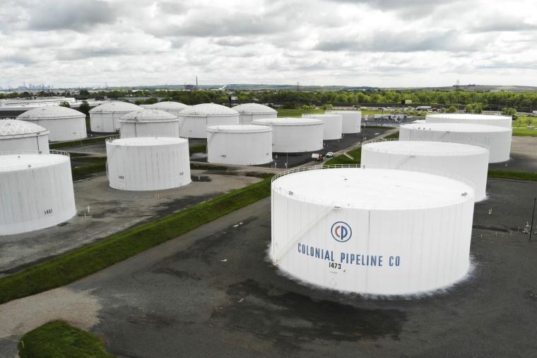 Colonial Pipeline storage tanks in Woodbridge, N.J., May 10, 2021.