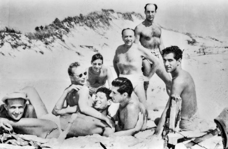 """Image: A  photo from the """"Safe/Haven: Gay Life in 1950s Cherry Grove"""" exhibit opening Friday at the New-York Historical Society."""